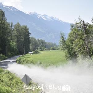 カナダで天然温泉 PembertonでHotSprings