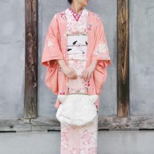 2月22日は『猫の日』なので、春っぽい猫コーデで浦和の骨董市♪