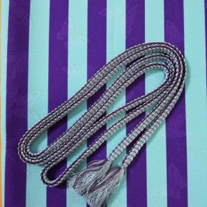 ☆手芸部☆今回は正絹糸なのでおてがるじゃないけど組紐第54作目・ボーダー帯揚げの色に合わせた平源氏組。