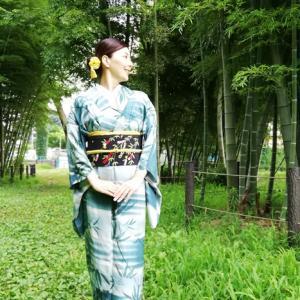 …ようやく七夕コーデを着ました。竹林でひっそりと…(笑)
