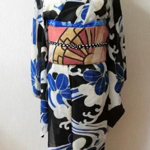 今年の夏着物コーデのラストを飾るのは『鬼滅・炭治郎イメージ』コーデ…