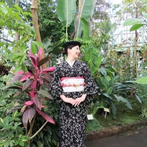 地元の植物園の熱帯植物温室に、ナマケモノコーデで行きました♪
