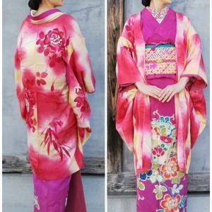 薔薇の絵羽織&色留袖の華やか1月コーデの着姿!