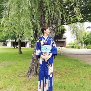 つばめコーデで、柳を求めて浦和くらしの民家園へ。