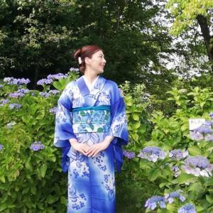 紫陽花コーデ・その2で毎年お馴染みの紫陽花園に行ってみたらば微妙…