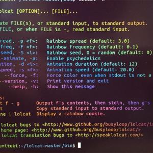 Linuxのターミナルの文字を虹色にする方法!lolcatというtoolを使って端末を美しくする。