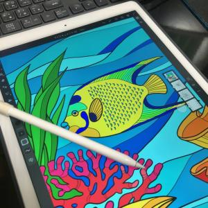 海水魚のイラストを描く!海の女王クイーンエンゼルフィッシュ