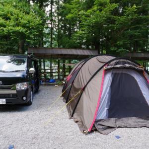 奈良県天川村「ファミリーオートキャンプ場いのせ」で家族キャンプ