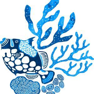 モンガラカワハギのお魚Tシャツをデザインしました!UMIYAで販売中!