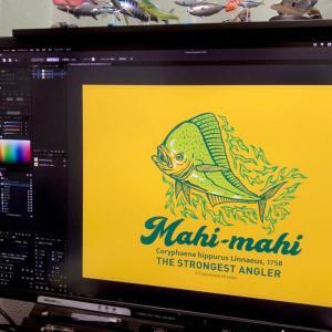 釣り師用!かっこいい魚のロゴマークTシャツを制作しました!