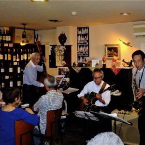 飯塚雅幸が7/24、ワインガーデン「リッシュブール・ワイン&JAZZの夕べ」に出演しました。