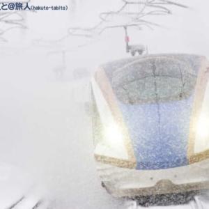 降雪の中を駆ける(新高岡にて)