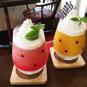 太白区諏訪町「ヴィンテージカフェ」夏季限定スイカのスムージーが可愛くて美味しい!