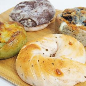 太白区富沢「ベーグルU」のベーグル4種類食べ比べ。惣菜との珍しい組み合わせも◎