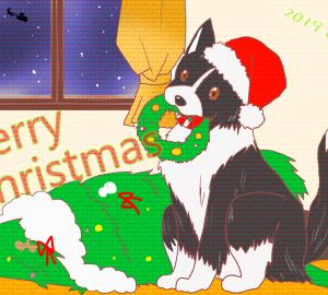 【犬絵】メリークリスマス!
