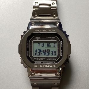 ハーレーにも似合う?メルカリで CASIO G-SHOCK の初号機の DNA を受け継ぐ GMW-B5000D-1JF を買っちゃいました! #G-SHOCK #フルメタル #スクエア