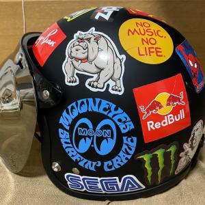 1 年半使った TT&CO の Super Magnam、キズ隠しの目的でステッカーチューンしてみました。 #バイク #ハーレー #ヘルメット #カスタム