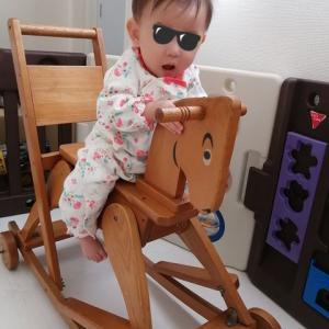 【子育て】木馬に乗れるようになった!