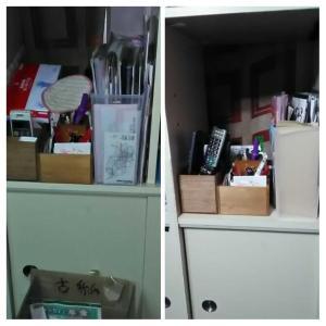 掃除・棚と洗面所/before&after