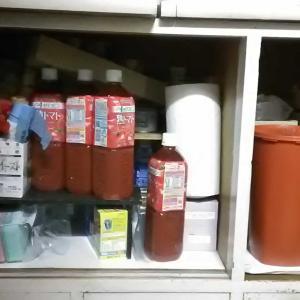掃除・昭和の食器棚下段Before&After