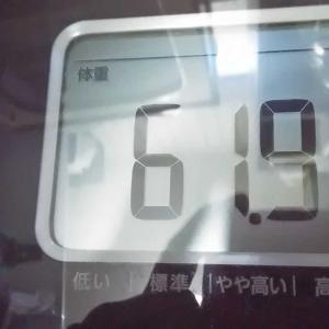 体重/2020/10/24は、61.9キロ