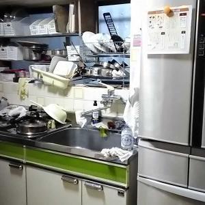 掃除・キッチンAFTERと冷蔵庫