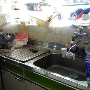掃除・キッチンBEFOREとコルセットとついでにコロナ
