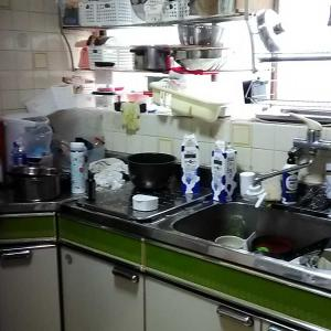 掃除・キッチンBEFOREとメリクリデザート