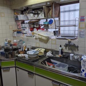掃除・キッチンBEFOREとダンナ在宅now