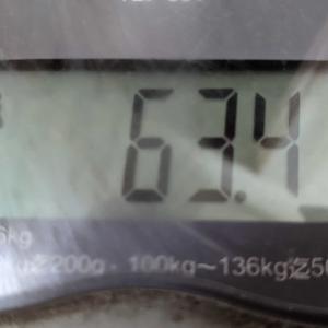 体重とジム1回目と蕎麦