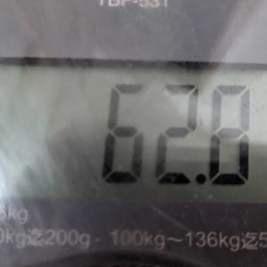 今朝の体重セーフ