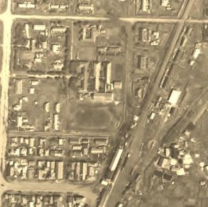昭和27年の根室高校空中写真