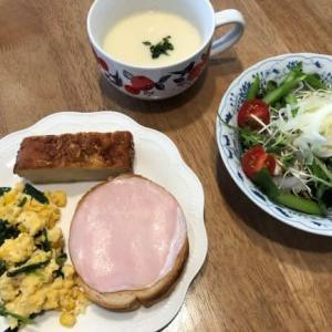 ラウンドパンの朝ご飯