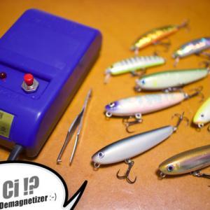 釣果にも影響が!?帯磁したフックを退磁するためのアイテムを導入【退磁器、消磁器もしくは脱磁器】