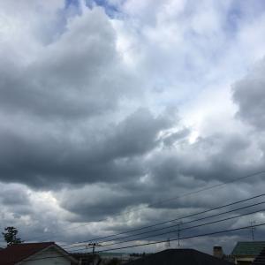 曇り空時々雨、霰も混じる