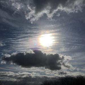 波状雲がつくる光冠