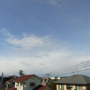 午前中晴れ、午後は雨