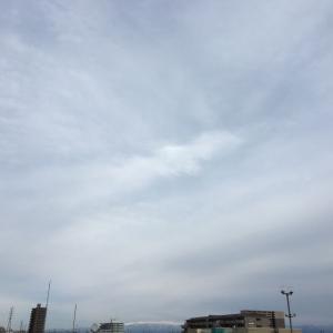 高曇り、夜には風強くなる