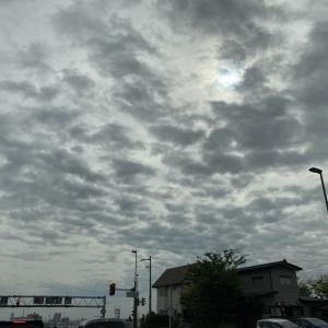 雲やや増えて気温下がる