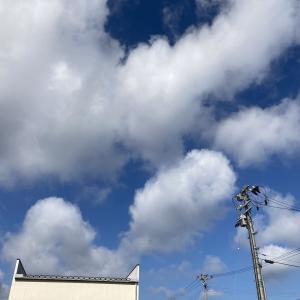 午前中は雲多いが、午後からはよく晴れてきた