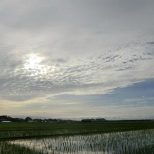 梅雨前線南下で天気回復