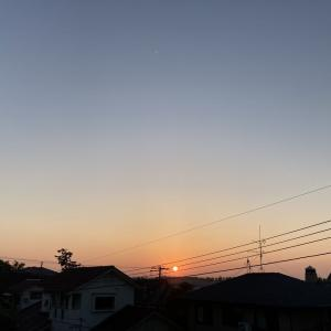 快晴の夕空