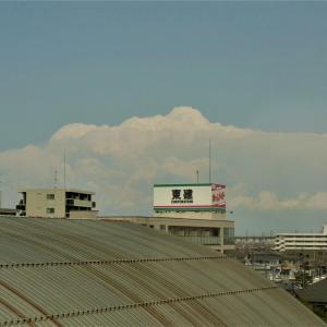 今日も山沿いで雲発達