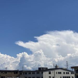成長する積乱雲