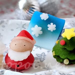 アマビエ様もクリスマスな生八ツ橋!ニキニキ季節の生菓子【2020年12月】