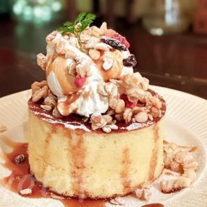 京都祇園のクリームキャラメルグラノーラホットケーキ【追記情報】