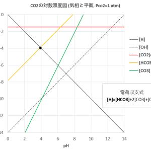 二酸化炭素の溶解と酸塩基平衡 (2)-CO2分圧が変化するとき