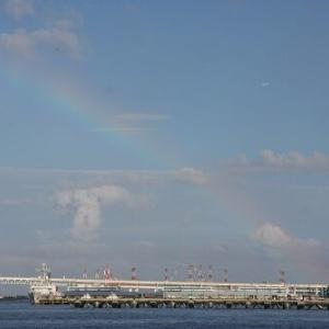 """【訪問記】何か良いことがあるかも?横浜みなとみらい地区で""""虹""""(2020.07.26)"""