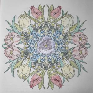 チューリップと花かんざし