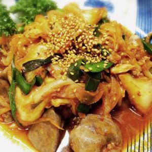 【ハゲレシピ】酵素たっぷり!豚レバキムチ